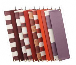 Zonwering doeken knikarmscherm rood paars