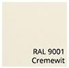 Kleurstalen zonnescherm omkasting cremewit Ral 9001